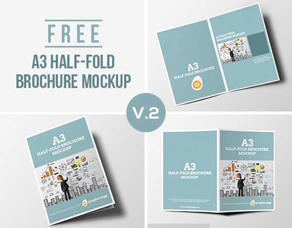 Half Fold Brochure Template Free Elegant 55 Best Free Brochure Mockup Psd Templates Download