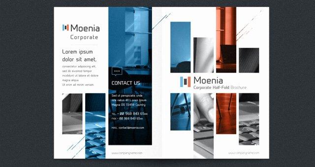 Half Fold Brochure Template Free Elegant Moenia Bi Fold Brochure Template