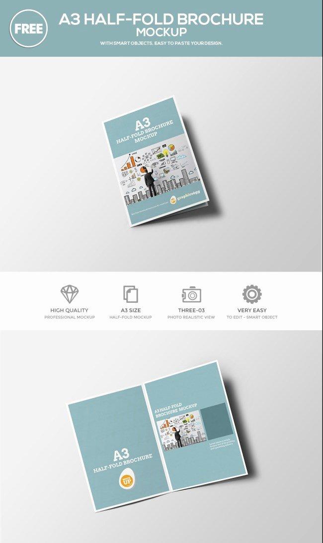 Half Fold Brochure Template Free Fresh Bi Fold Brochure Template