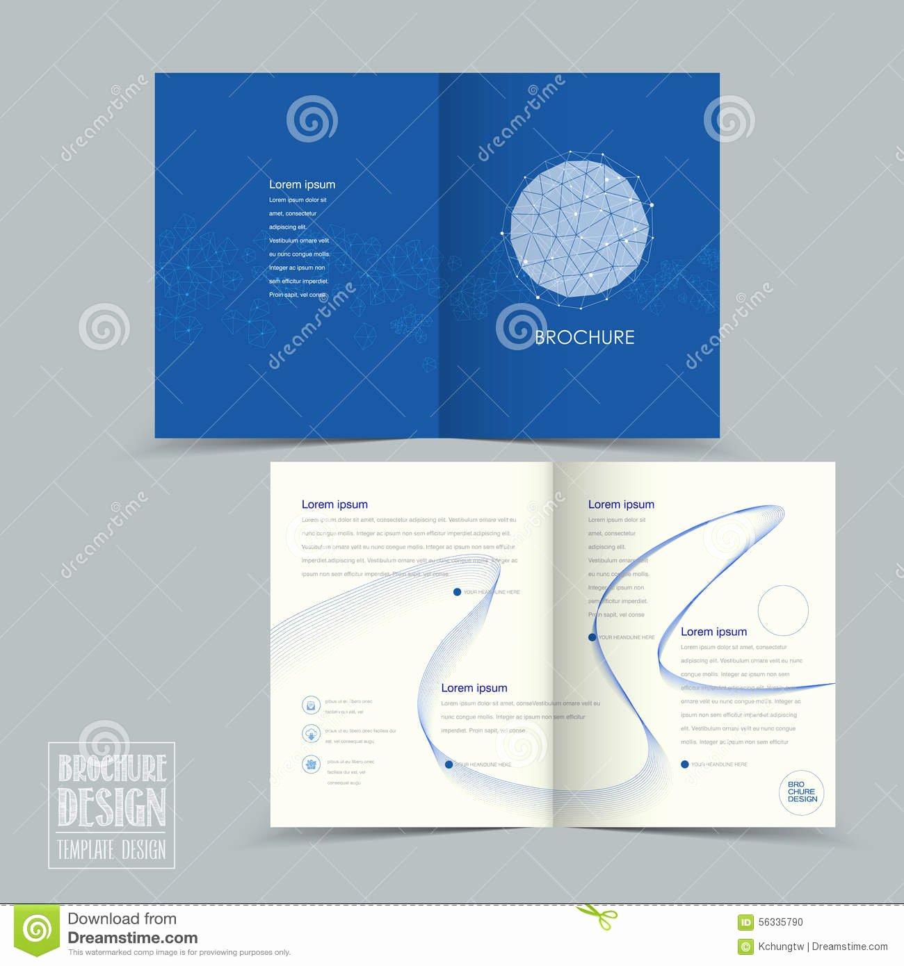 Half Fold Brochure Template Free Fresh Simplicity Half Fold Brochure Template Design Stock Vector