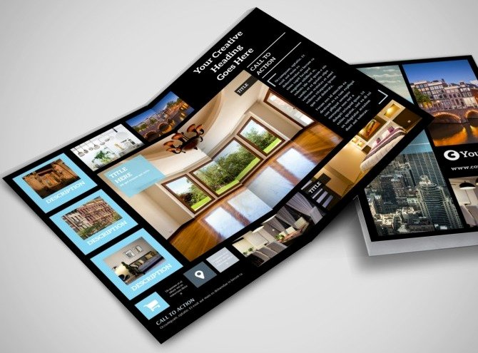 Half Fold Brochure Template Free Inspirational 7 Best Of Half Fold Brochure Templates Real Estate
