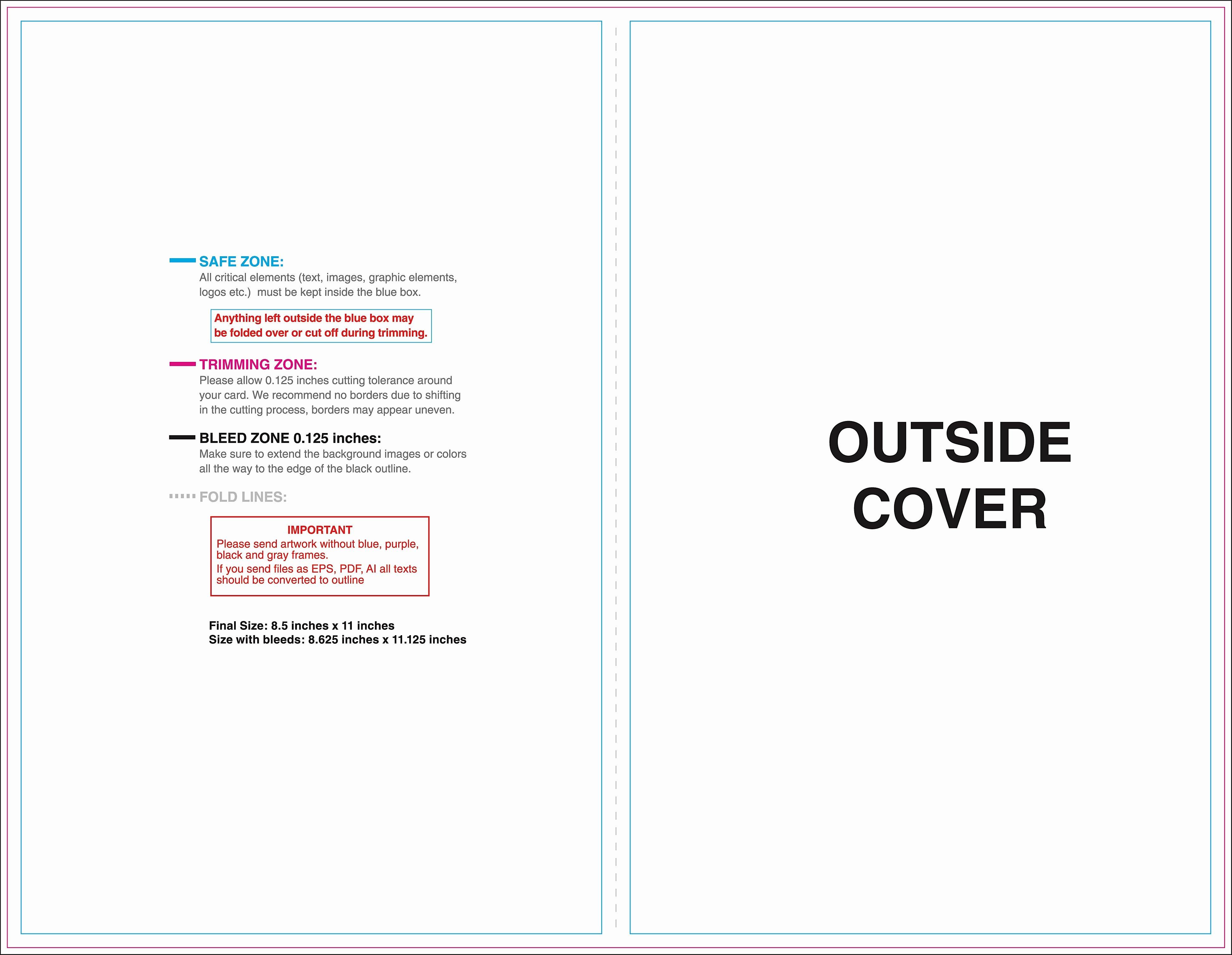 blank brochure template example