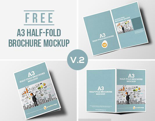 Half Fold Brochure Template Free New 75 Free Brochure Mockup Templates for Your Designs