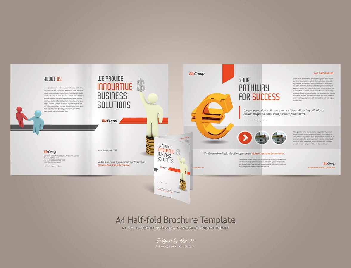 Half Fold Brochure Template Free New Brochure Template Category Page 1 Efoza