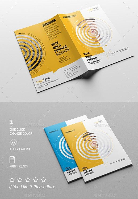 Half Fold Brochure Template Free Unique 36 Half Fold Brochure Templates