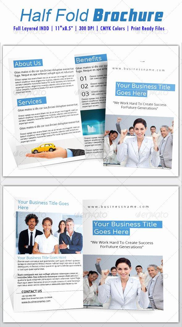 Half Fold Brochure Template Fresh Half Fold Brochure Template