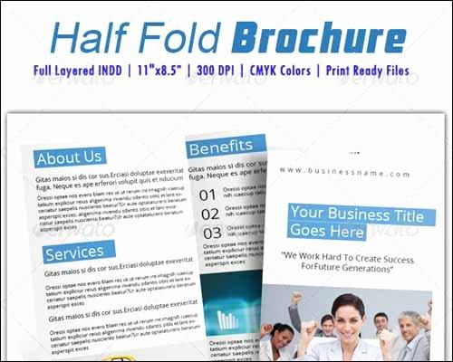 Half Fold Brochure Template Lovely 25 Best Brochure Design Templates
