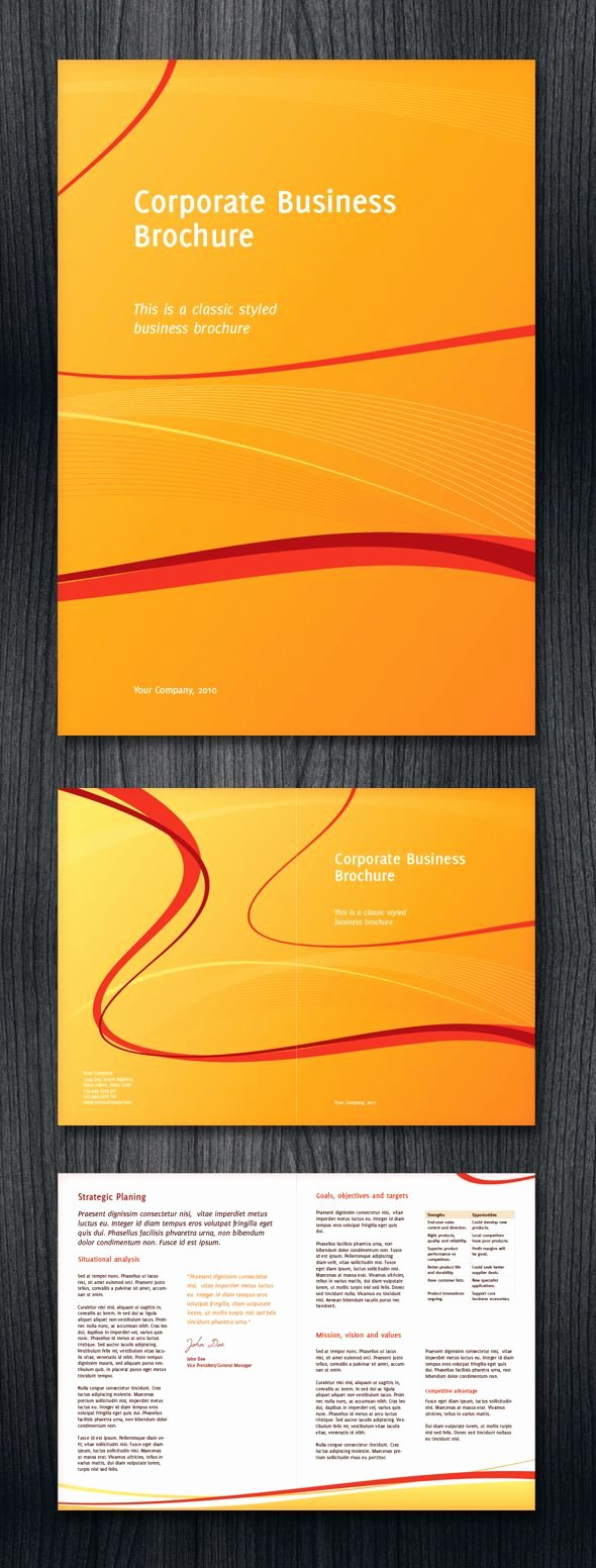 Half Fold Brochure Template Luxury Half Fold Corporate Business Brochure