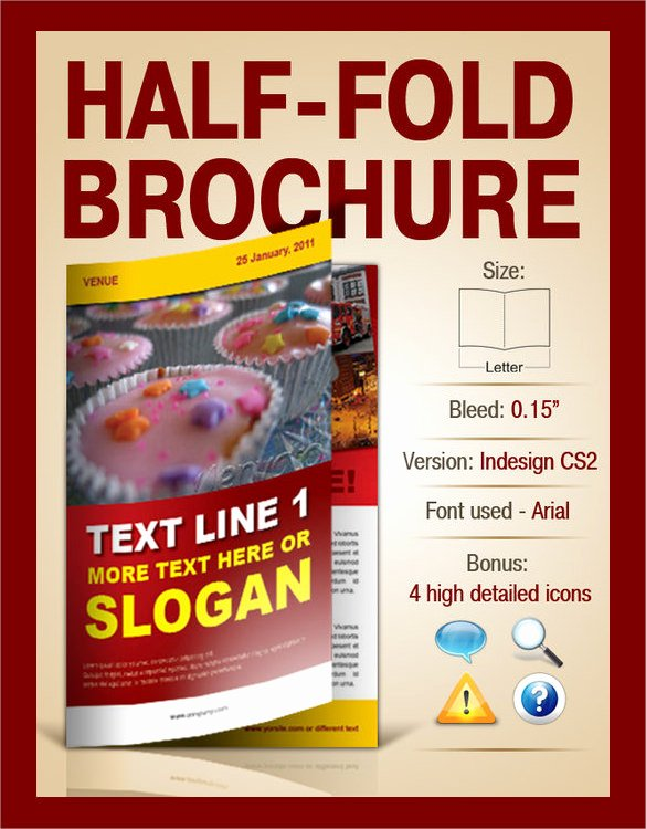 Half Fold Brochure Template New 26 Half Fold Brochures