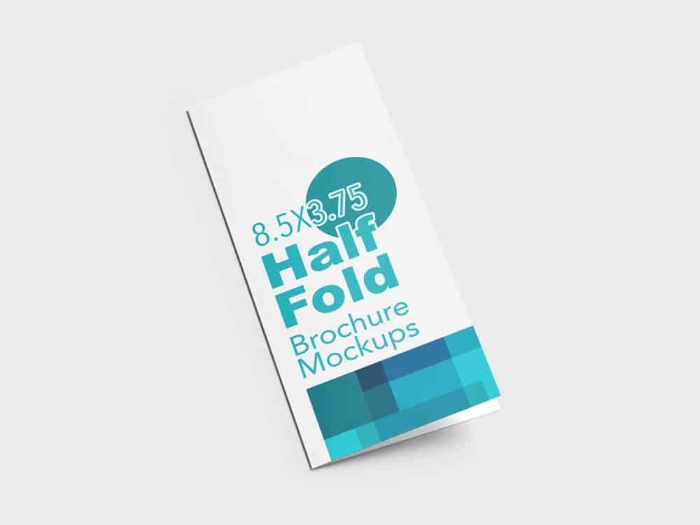 Half Fold Brochure Template New Half Fold Vertical Brochure Mockups On Vectogravic Design