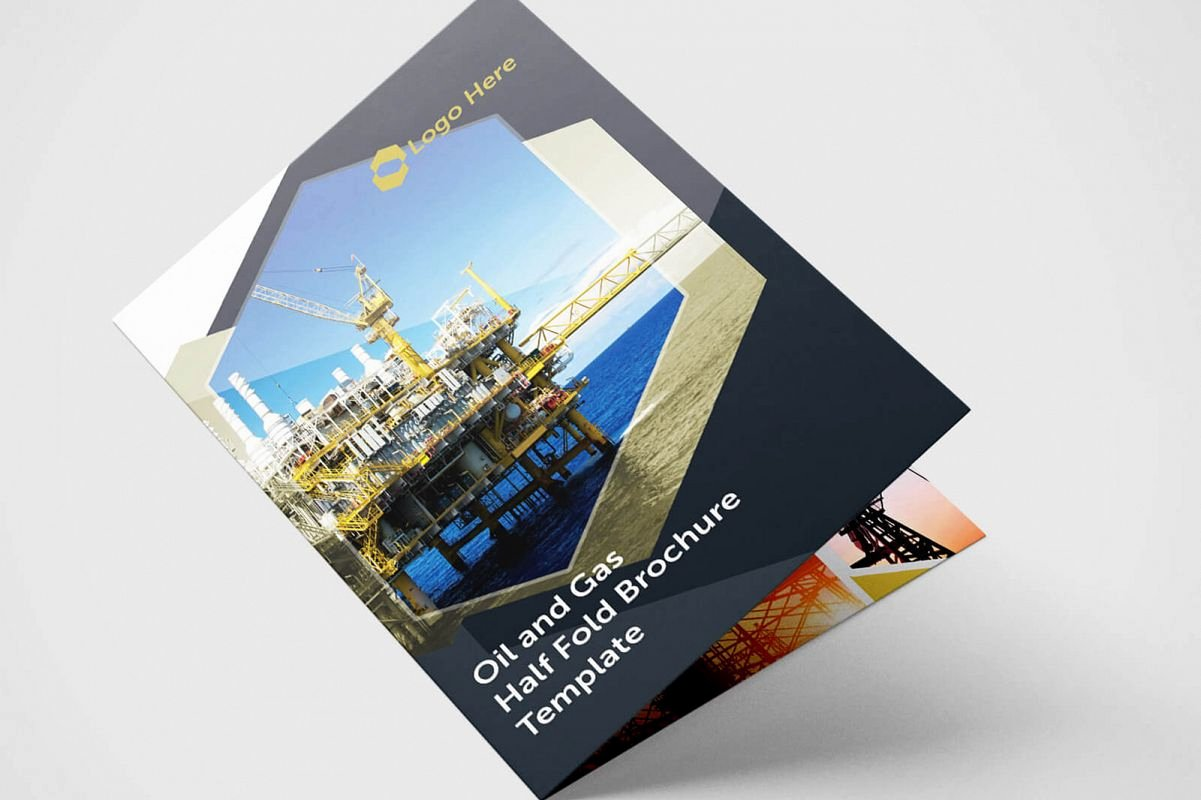 Half Fold Brochure Template Unique Half Fold Oil and Gas Brochure Template