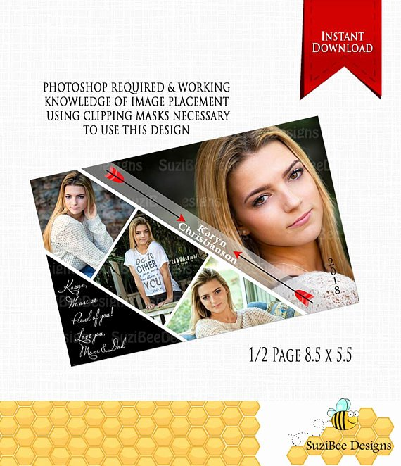 Half Page Ad Template Awesome Downloadable Yearbook Ad Template Half Page Photoshop