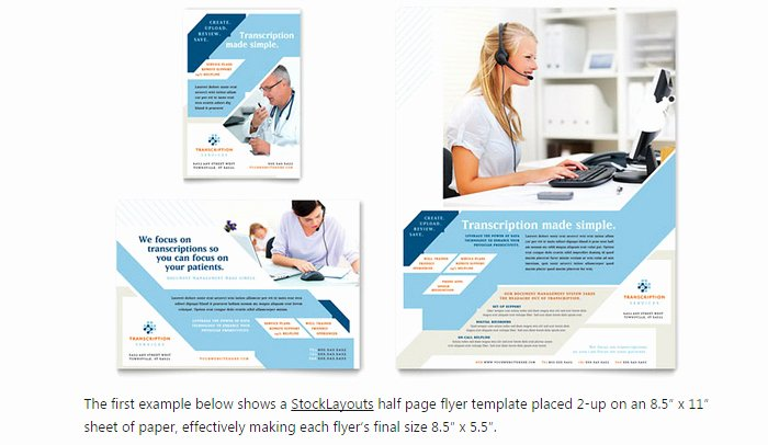 Half Page Ad Template Beautiful 6 Half Page Flyer Template