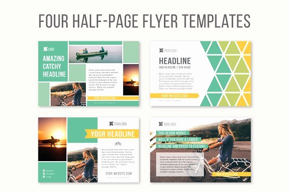 Half Page Ad Template Best Of Four Half Page Flyer Templates Templates On Creative Market
