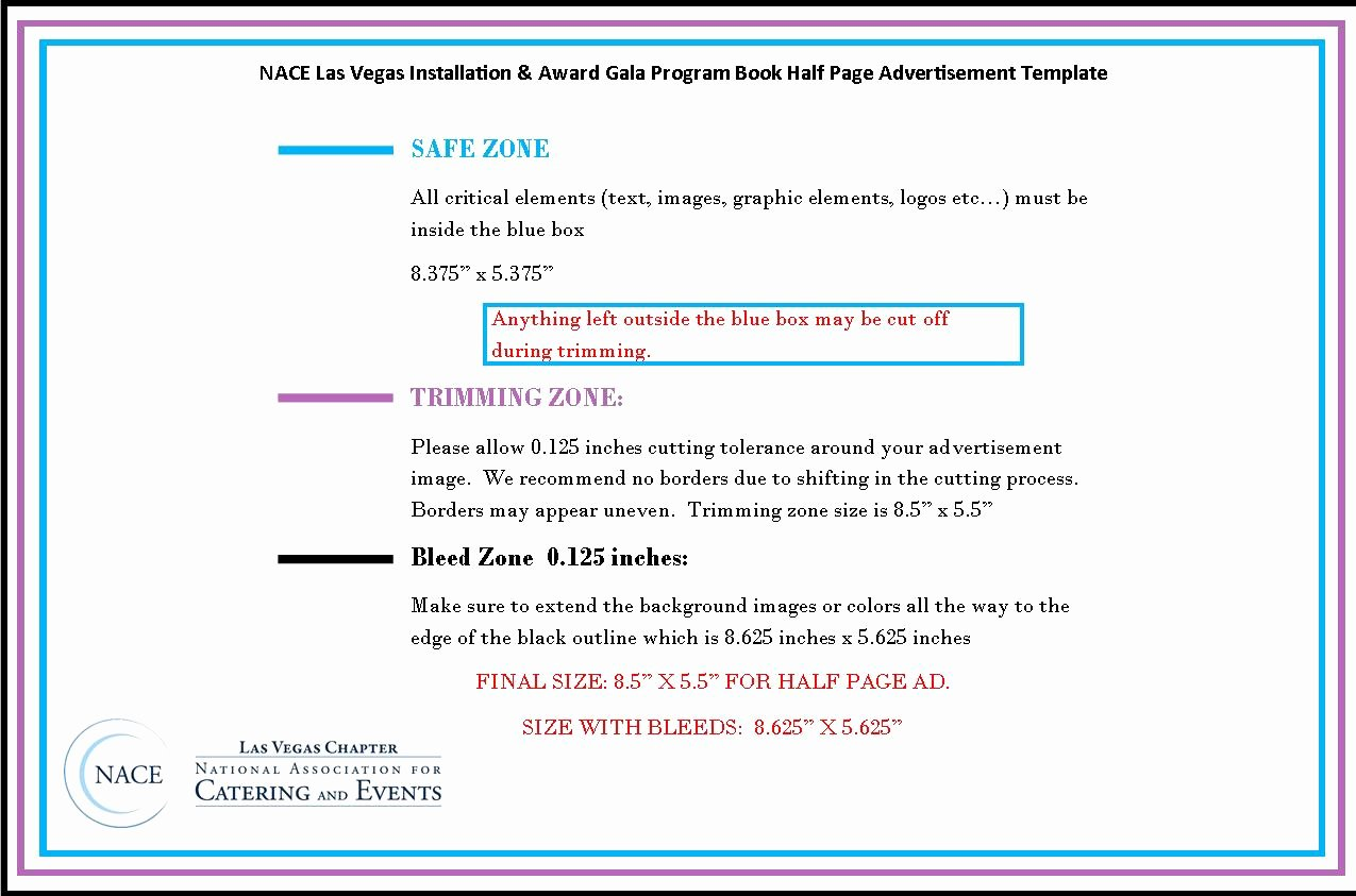 Half Page Ad Template Elegant Las Vegas Nace Advertisement Submitting Instructions for