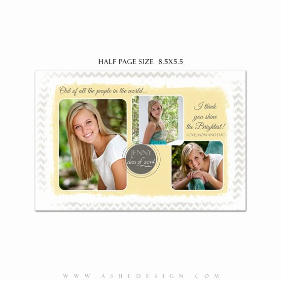 Half Page Ad Template Elegant Senior Yearbook Ad Sets for Graphers Modern