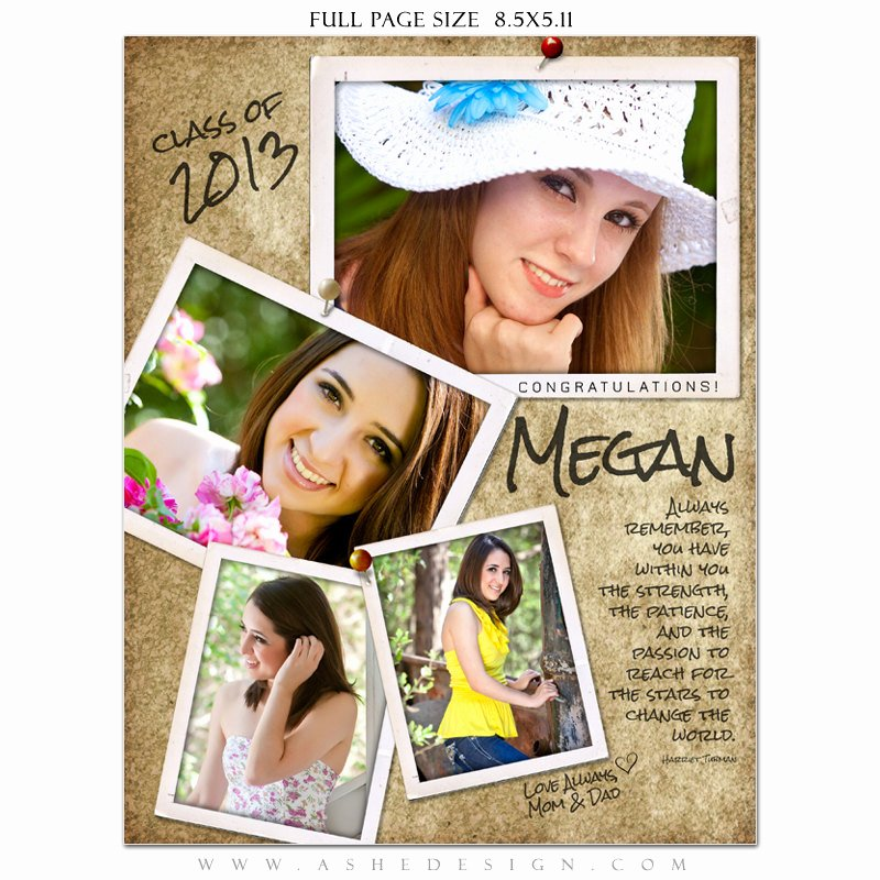 Half Page Ad Template Fresh Senior Yearbook Ad Sets for Graphers by ashedesign On