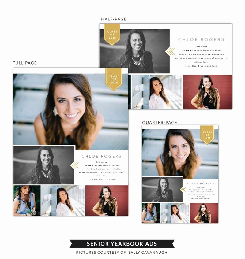 Half Page Ad Template Fresh Senior Yearbook Ads