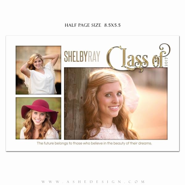 Half Page Ad Template Luxury ashe Design Senior Yearbook Ad