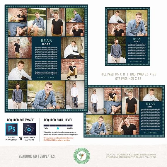 Half Page Ad Template Unique Yearbook Ad Templates Senior Ad Graduation Ad High School