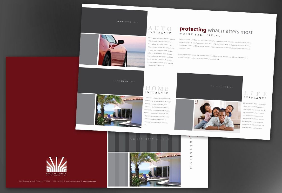 Half Page Brochure Template Awesome Insurance Agency Brochure Template the 13 Secrets You Will