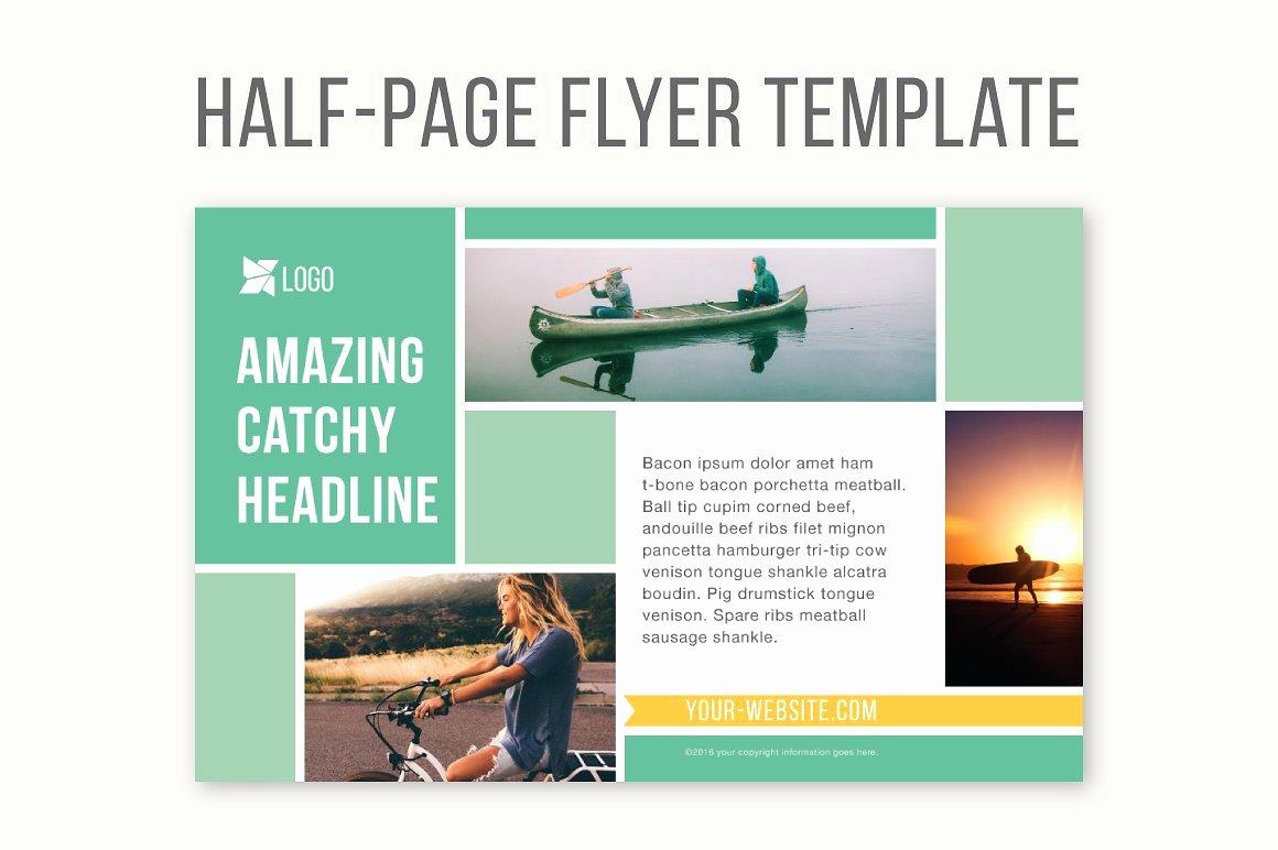Half Page Brochure Template Beautiful Half Page Flyer Template Templates Creative Market