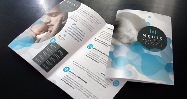 Half Page Brochure Template Beautiful Medic Bi Fold Brochure Template Brochure Templates