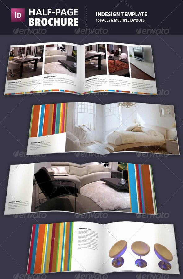 Half Page Brochure Template Elegant Half Page Brochure Indesign Template by Adriennepalmer