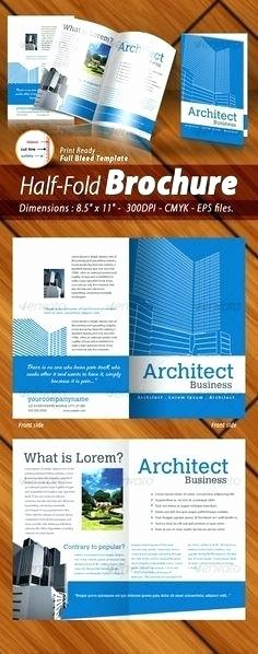 Half Page Brochure Template Fresh Half Page Brochure Template – Ddmoon