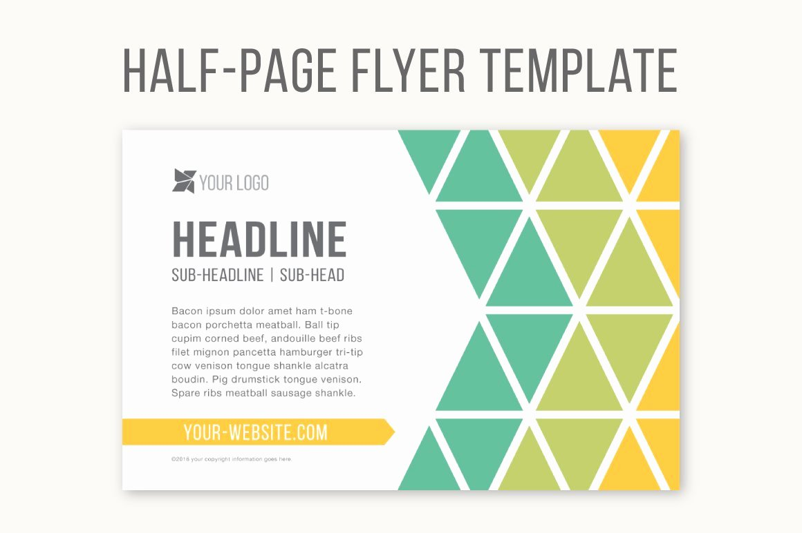 Half Page Brochure Template Inspirational Half Page Flyer Template Templates Creative Market