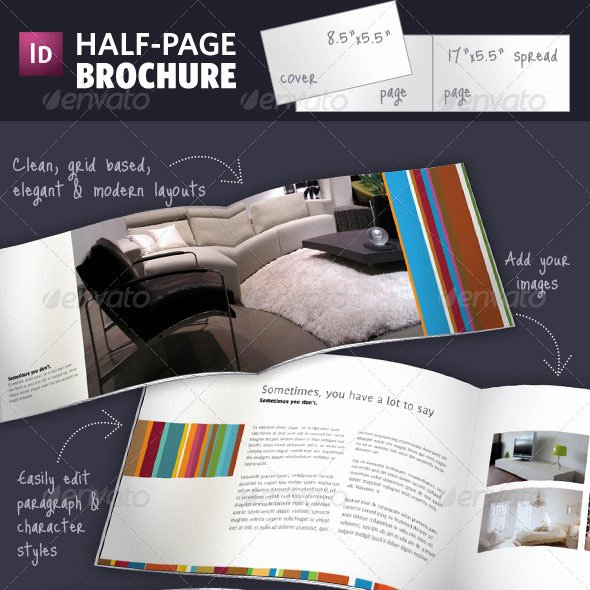 Half Page Brochure Template Luxury 50 Business Brochure Templates Template