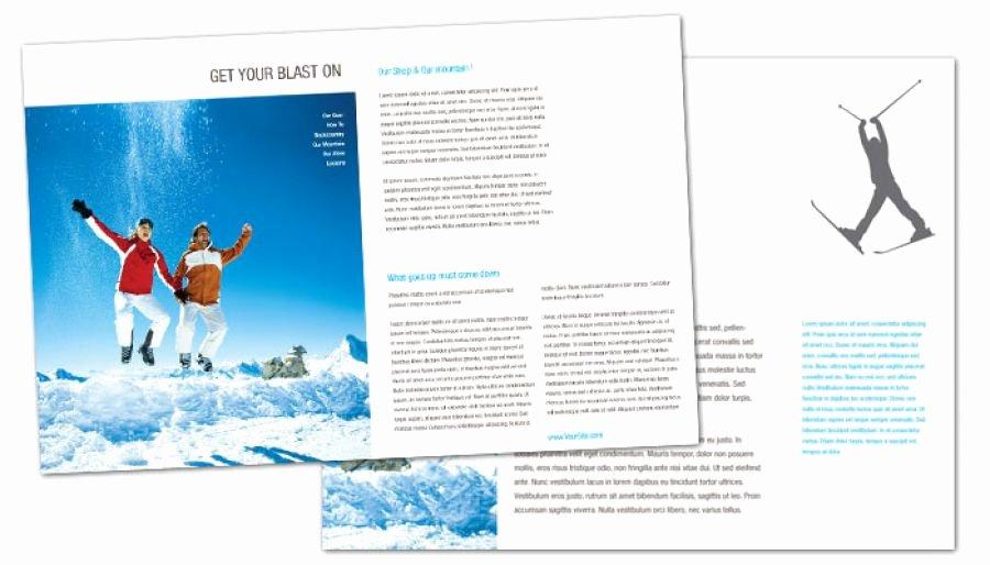 Half Page Brochure Template Luxury Half Fold Brochure Template for Ski Shop Resort order