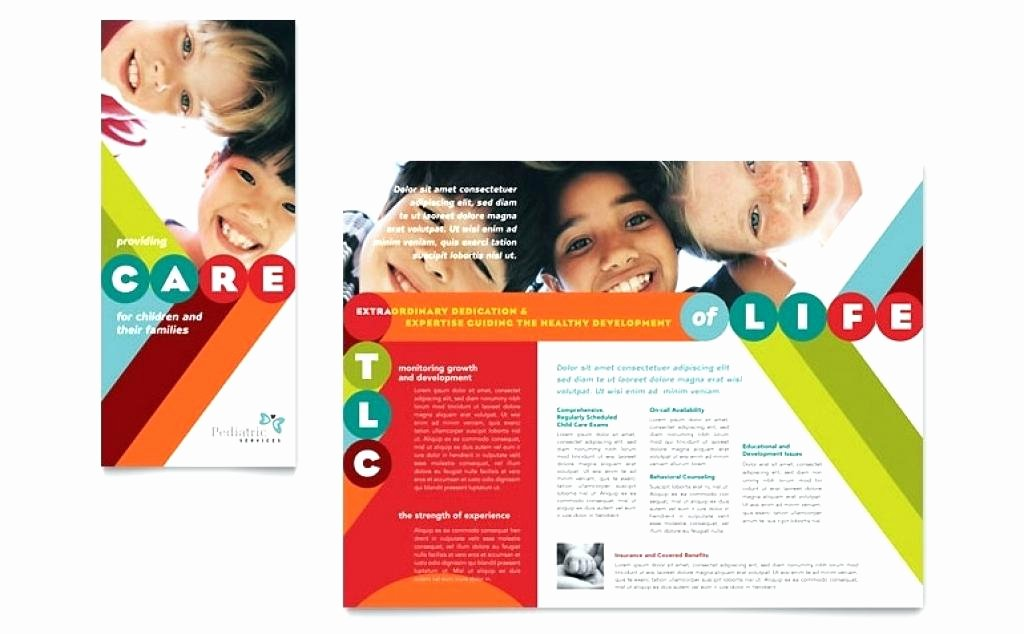 Half Page Flyer Template Best Of E Page Brochure Template Word Half Flyers Free Vector