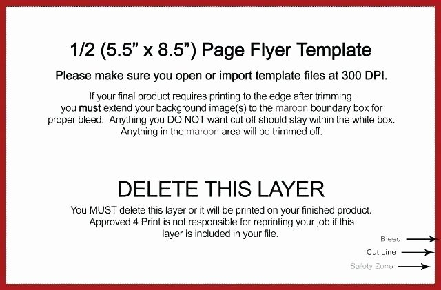 Half Page Flyer Template Inspirational Take One Flyer Template – Arabnormafo