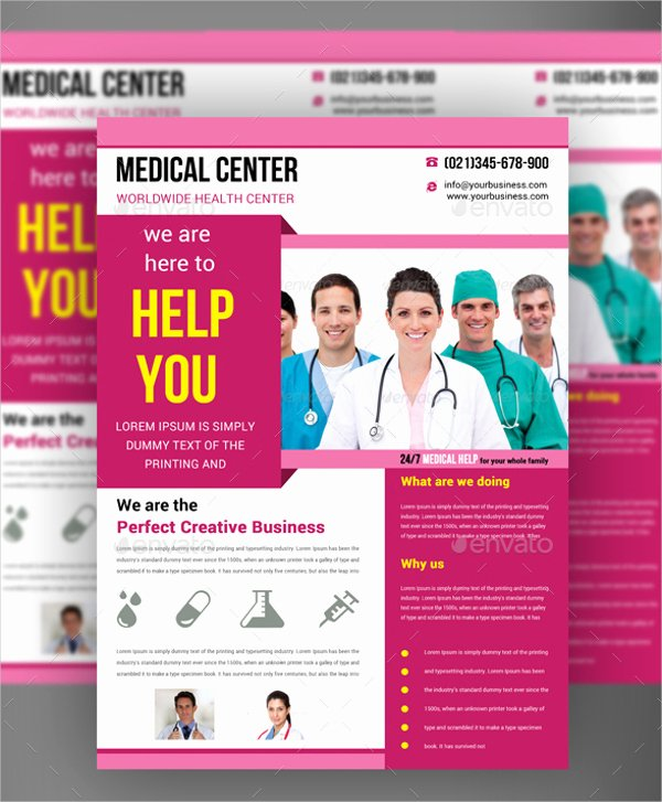 Half Page Flyer Template Lovely Free Medical Flyer Templates Yourweek 284f43eca25e