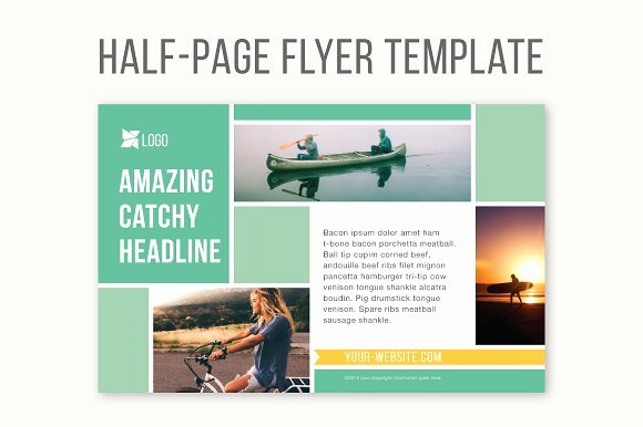 Half Page Flyer Template New Half Page Flyer Template Templates Creative Market
