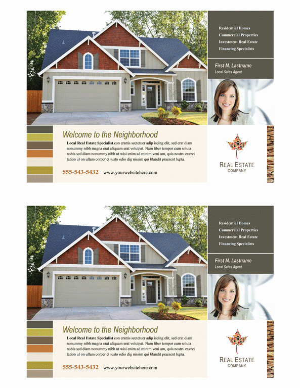 Half Sheet Flyer Template Luxury Download Real Estate Flyer Half Page Free Flyer