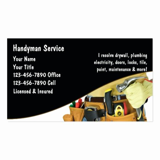 Handyman Work order Template Awesome Handyman Business Cards