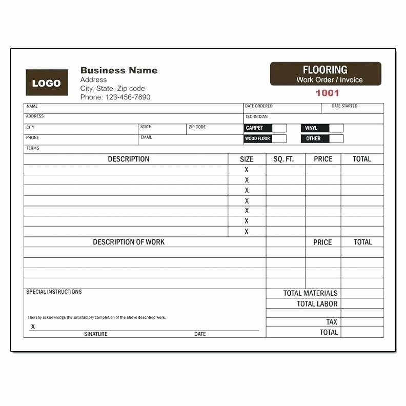 Handyman Work order Template Awesome Invoice for Professional Services Template From Fresh