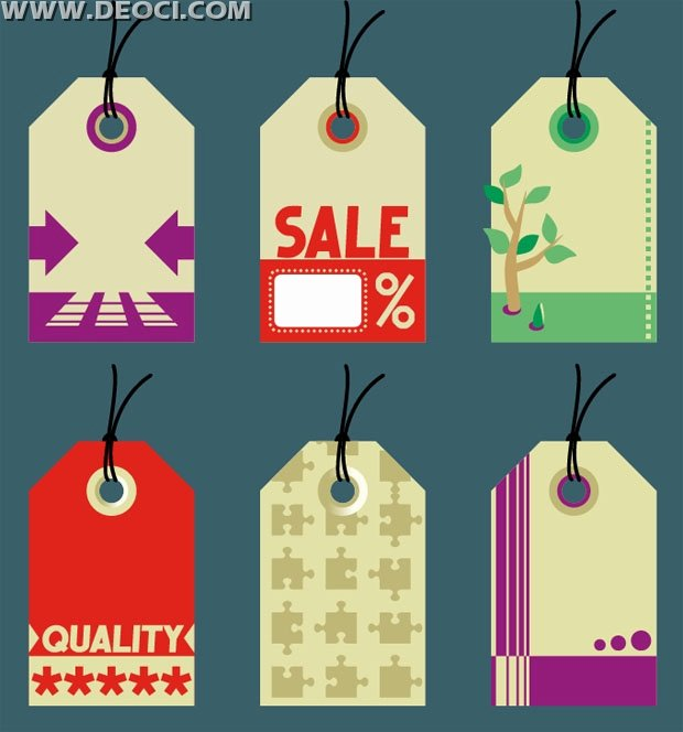 Hang Tag Design Template Best Of 6 Modity Sale Hang Tags Design Template Vector Material