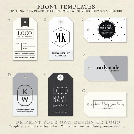 Hang Tag Design Template Elegant Custom Clothing Labels Clothing Tags Hang Tag Custom