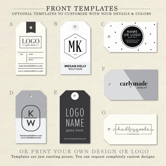 Hang Tag Design Template Elegant Custom Clothing Labels Clothing Tags Hang Tag Custom
