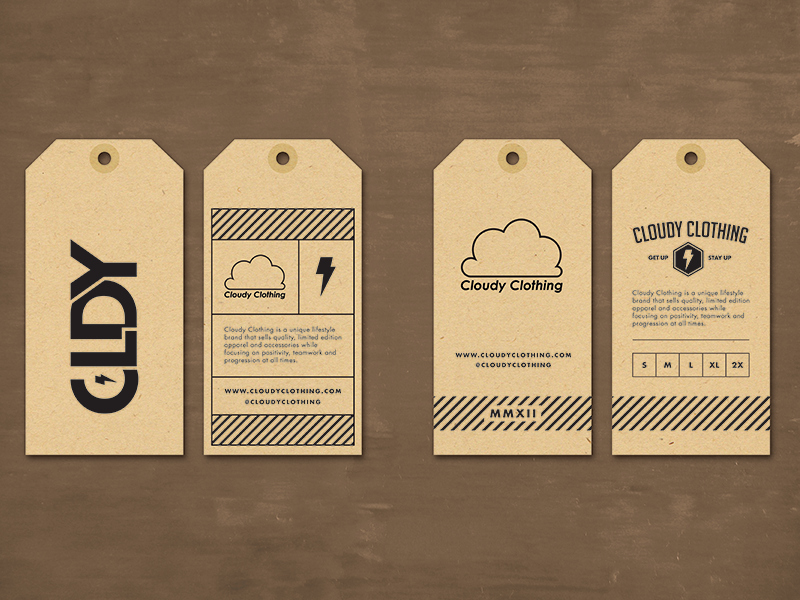 Hang Tag Design Template Lovely Cloudy Clothing Hang Tag by Jordan Mahaffey