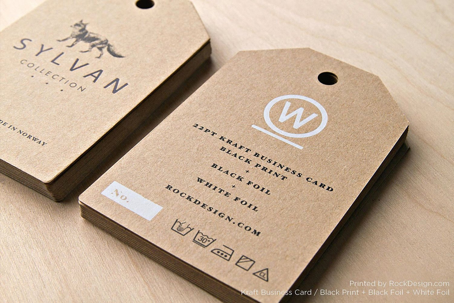 Hang Tag Design Template Luxury Free Kraft Paper Business Card Template