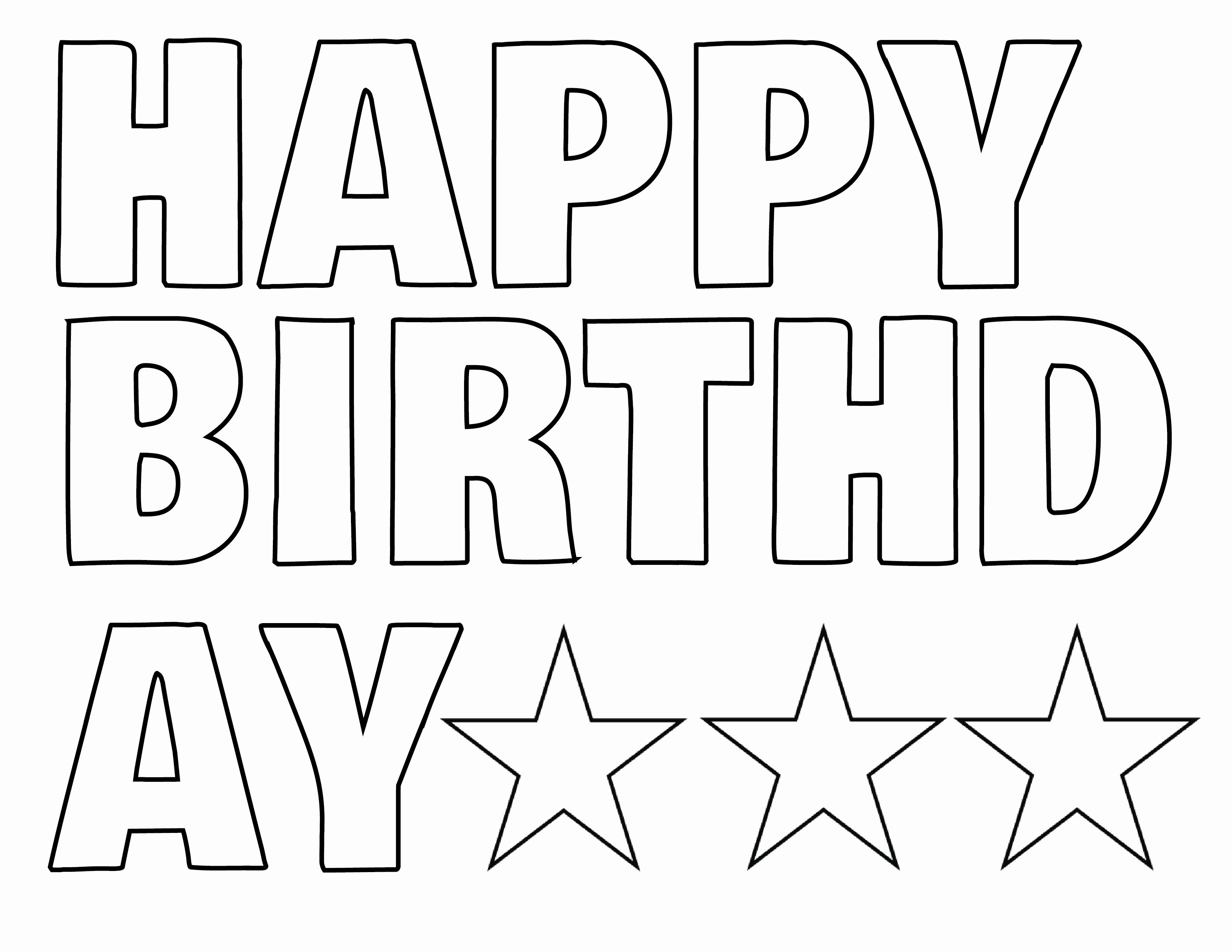 Happy Birthday Banner Template Fresh Happy Birthday Letters to Print Printable 360 Degree