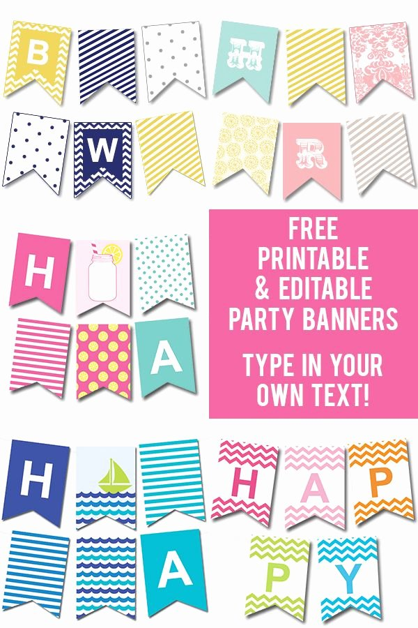 Happy Birthday Banner Template Inspirational Free Printable Happy Birthday Banner Templates