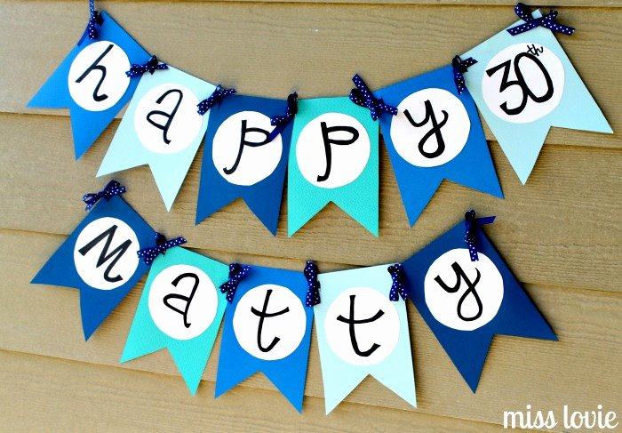 Happy Birthday Banner Template Lovely Miss Lovie Flag Bunting Tutorial and Free Printable Template