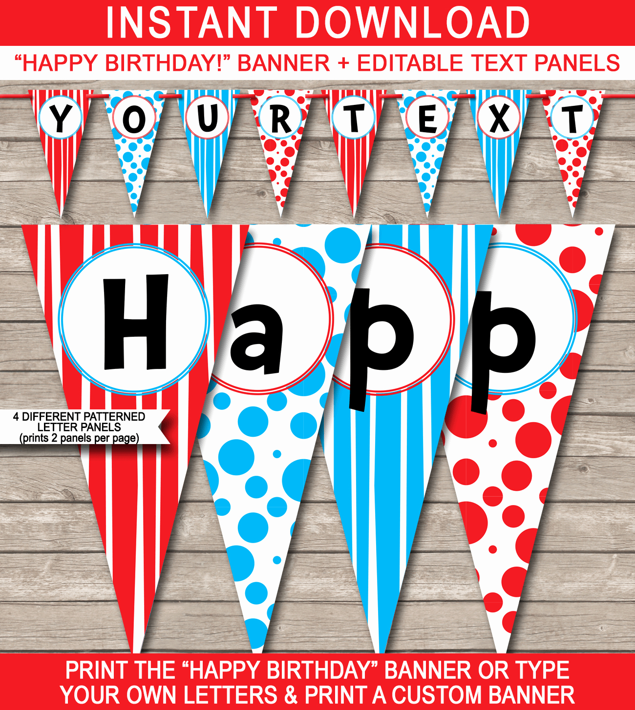 Happy Birthday Banner Template Luxury Dr Seuss Party Banner Template