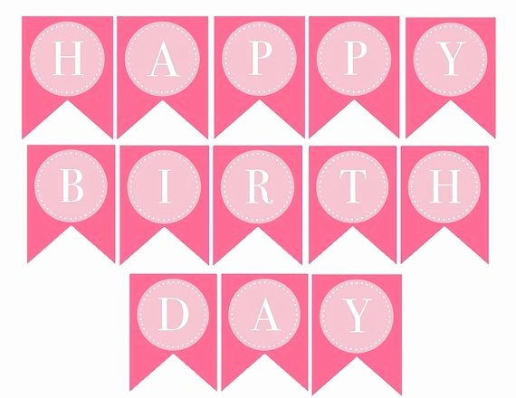 Happy Birthday Banner Template Luxury Free Printable Birthday Banner Templates