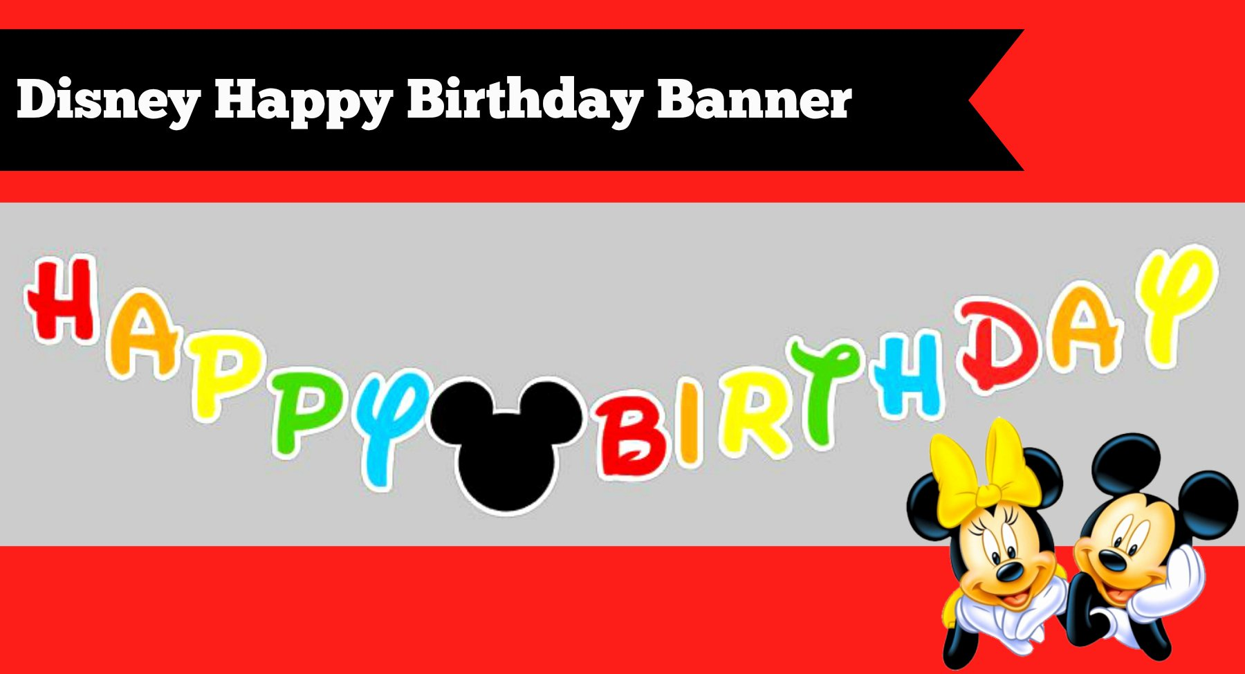 Happy Birthday Banner Template Unique How to Make A Diy Mickey Mouse Clubhouse Inspired Happy